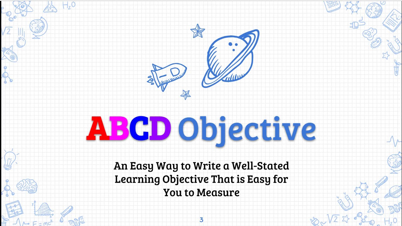 Writing Abcd Learning Objectives Youtube How do you write abcd objectives