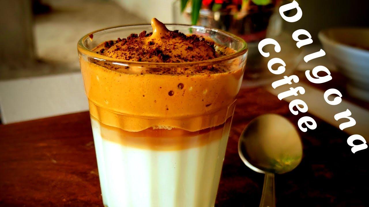 Dalgona coffee recipe  tik tok viral coffee  whipped ...