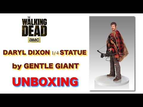 The Walking Dead - Daryl Dixon 1/4 Statue by Gentle Giant - Unboxing