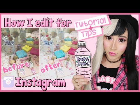 How I Edit My Kawaii Pictures For Instagram |App Tutorial| 2019