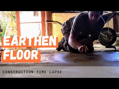 Pouring an Earthen Floor