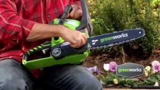 Аккумуляторная цепная пила GreenWorks G40CS30 - Садовые Механизмы(Купить аккумуляторную цепную пилу GreenWorks G40CS30 ..., 2015-09-16T08:36:21.000Z)
