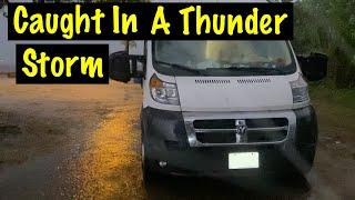 WE GOT CAUGHT IN A SEVERE THUNDER STORM | VanLife in Mississippi