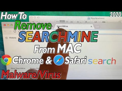How To Get Rid Of SEARCHMINE On MAC Chrome Safari Delete SearchMine Removal MALWARE VIRUS Mac OS X