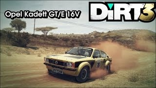 DIRT 3 - Opel Kadett GT/E 16V @ Safari Historic Cup - Kenia
