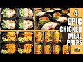 4 EPIC CHICKEN MEAL PREP RECIPES