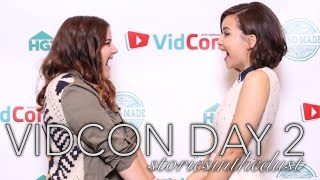 VIDCON DAY 2 (Meeting Ingrid, Glitter Time, and Panels) | storiesinthedust