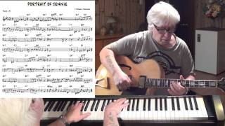 A Portrait Of Jennie - Jazz guitar & piano cover ( J.Russell Robinson )