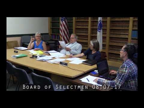Board of Selectmen 08.07.17
