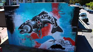 NEW ZEALAND'S WORTH LOVING - Drainbow Trout #1 of a pollution awareness mural tour