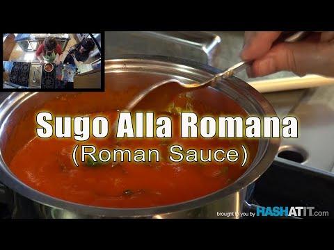 Episode #1 - Making Sugo Alla Romana (Roman Sauce) with Nonna Paolone