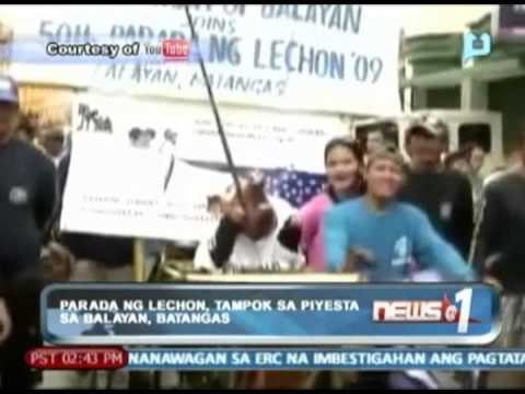 News@1: Parada ng lechon, tampok sa piyesta sa Balayan, Batangas