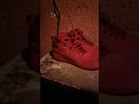 Red Suede Air Force Ones
