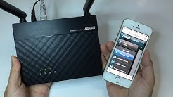Setup ASUS router using Mobile