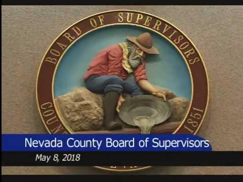 Nevada County BOS May 8, 2018