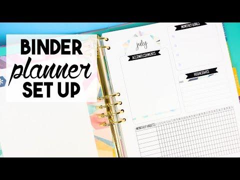 Binder Planner Set Up | WEEKLY VLOG thumbnail
