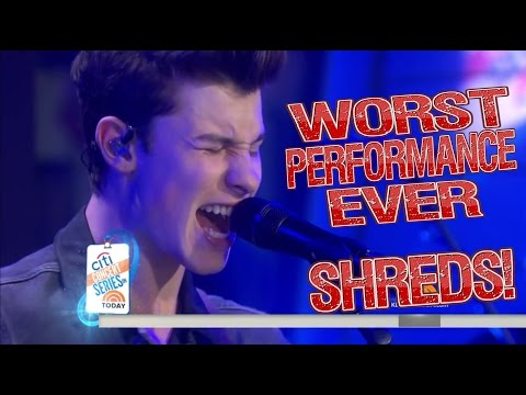 Shawn Mendes - Worst Performance Ever -Treat You Better - SHREDS
