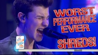 shawn mendes worst performance ever treat you better shreds
