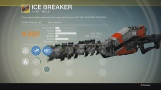 Destiny - EXOTIC: Gun - Ice Breaker - Gameplay - Sniper Rifle