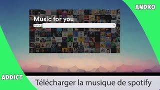 Télécharger la musique de spotify (avec les pochettes d'albums)