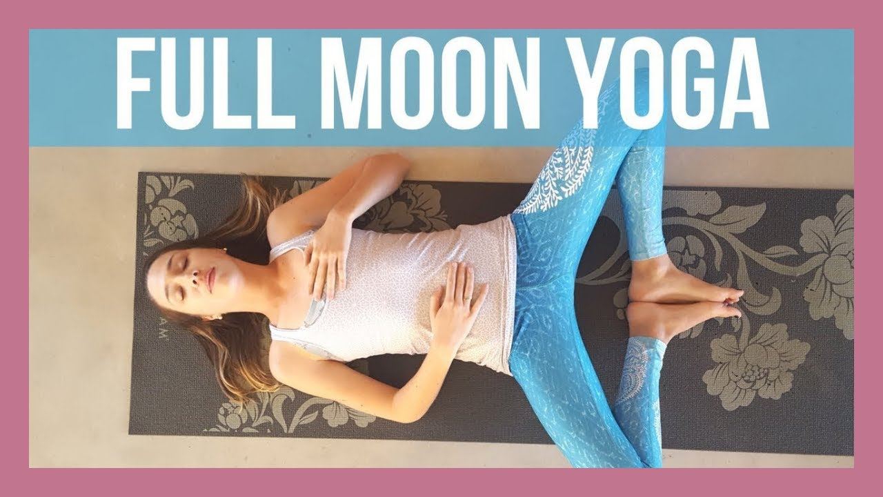 Full Moon Yoga ☽ - Moon Salutations Slow Flow {40 min ...