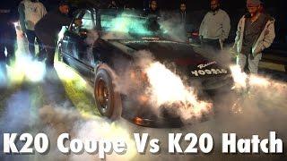 agp k20 civic eg coupe vs nf1 k20 civic ek hatch