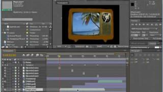 Озвучивание картинок на экране телевизора. AE CS4(8/10)
