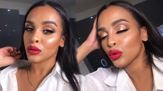 FESTIVE RED LIP MAKEUP TUTORIAL| NikkisSecretx