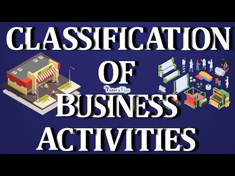 0 - Classification of Business activities - Examples