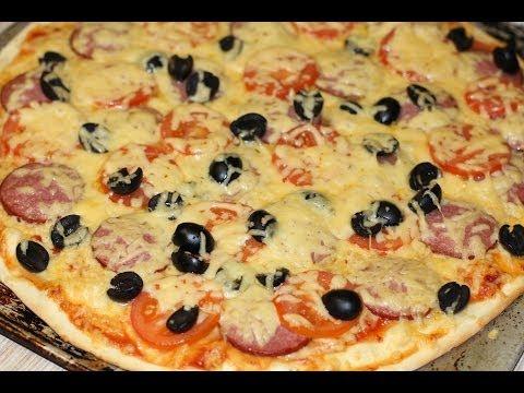 Как приготовить пиццу. Видео рецепт