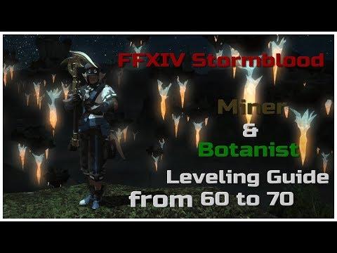 Ffxiv leveling botanist level 1-5 a realm reborn youtube.