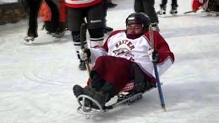 Leh: Specially Abled Too Play  Sledge Ice Hockey