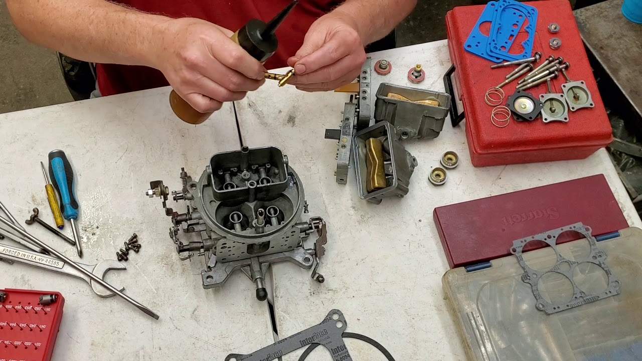 how to clean a holley carb