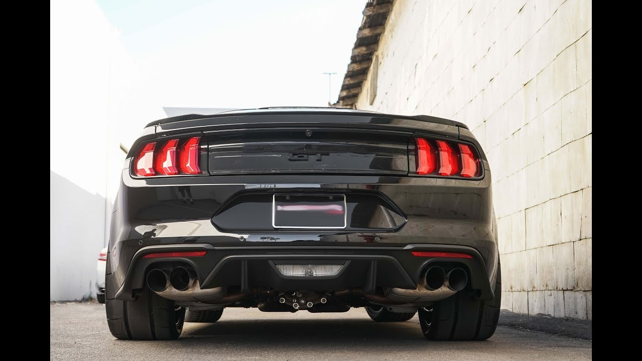 2018 ford mustang gt s active exhaust the best vs borla atak vs corsa extreme exhausts