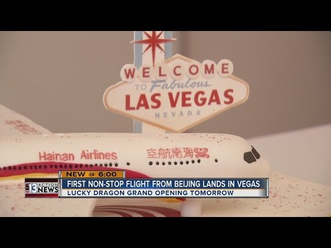 First non-stop flight from Beijing highlights growth of Chinese tourism in Las Vegas