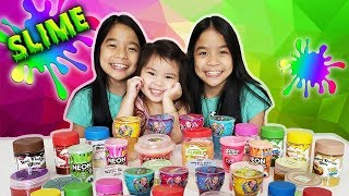 SLIME SMOOTHIE - Mixing Our Store Bought Slime!   Tran Twins