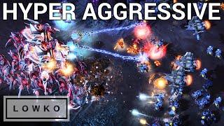 StarCraft 2: HYPER AGGRESSIVE TERRAN! (Cure vs Zest)