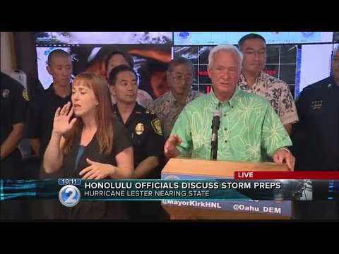 C&C of Honolulu press conference on Hurricane Lester preparations