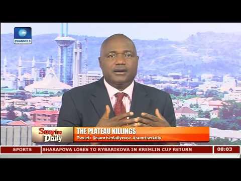 Plateau Killings Politically-Motivated - Timothy Adudu Pt 1   Sunrise Daily  