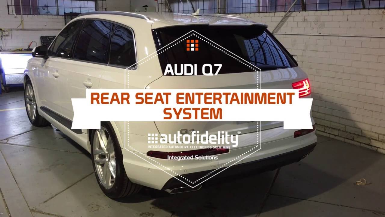 audi q7 rear seat entertainment system youtube. Black Bedroom Furniture Sets. Home Design Ideas