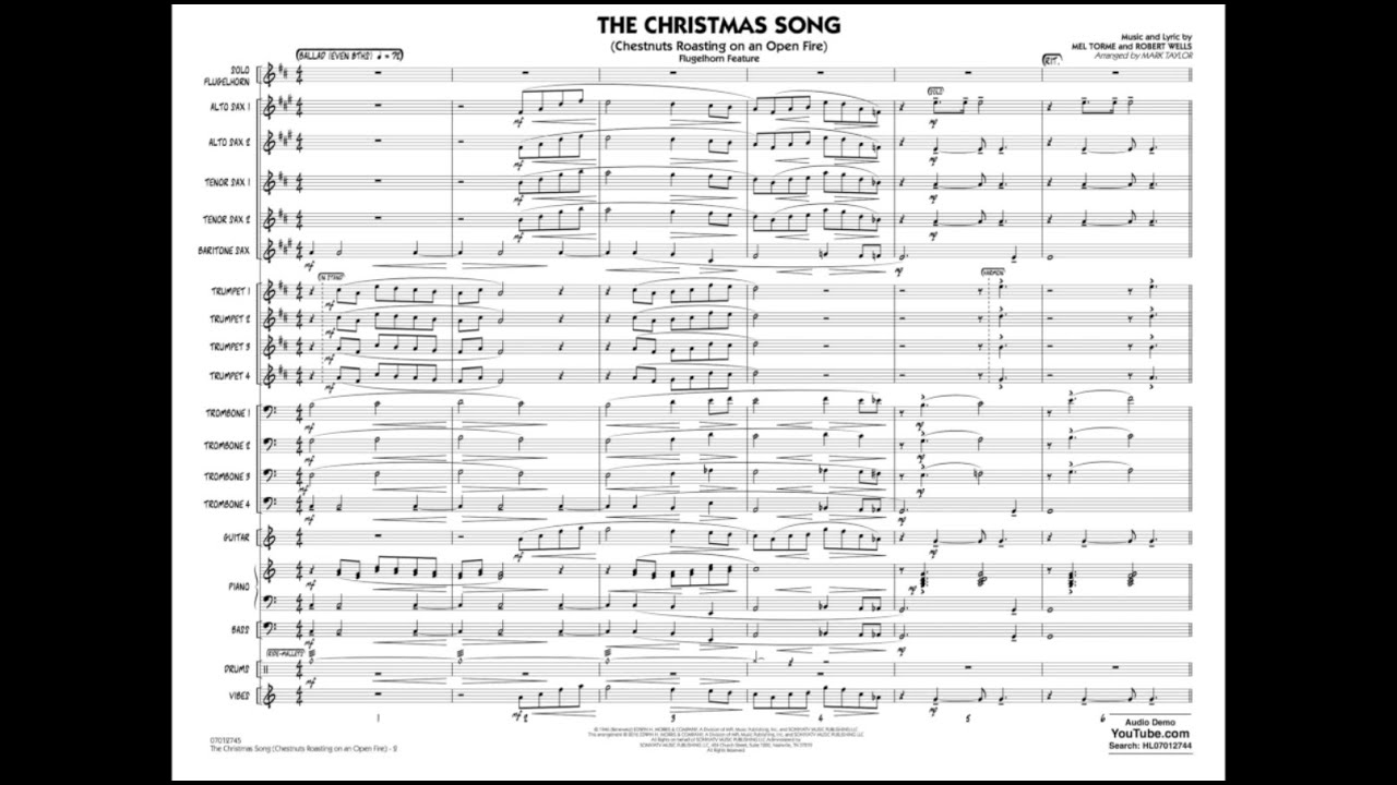 The Christmas Song arranged by Mark Taylor - YouTube