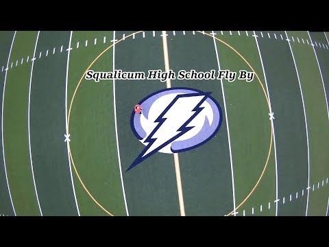 Squalicum High School Fly By: Bellingham WA.