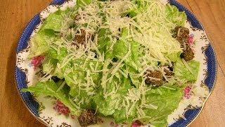 Салат Цезарь / Caesar Salad(Готовим проверенный временем вкуснейший салат Цезарь - классический видео рецепт. Один из моих любимых..., 2011-03-05T09:19:42.000Z)