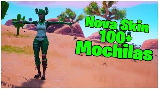 SHOWING THE * NEW * SKIN THORNY PATROL & 100 + BACKPACKS | FORTNITE