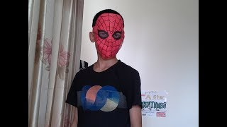 How to  make an easy paper spiderman mask.