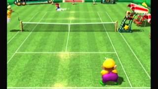 Mario Power Tennis-Mario Vs Wario