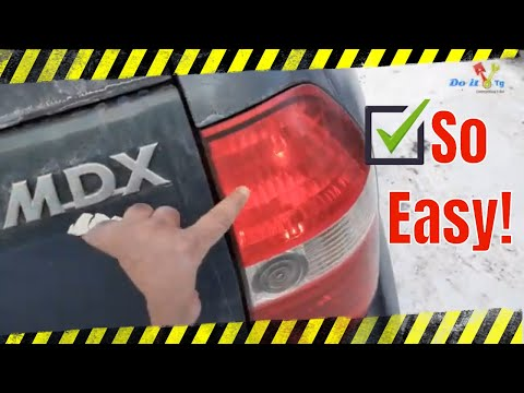 How to Replace 2001 2003 Acura MDX Tail Light   Bulb, Change Install 2002 AC2800111 33506 S3V A02