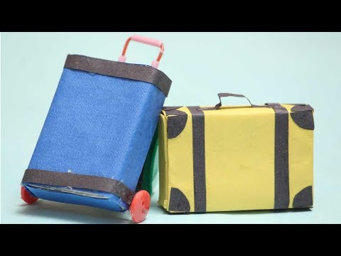 Rolling Luggage Toy For Kids - Easy Miniature Furniture DIY