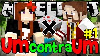 NOVA SÉRIE! 1x1 - O DESAFIO DO BOLO! - Minecraft