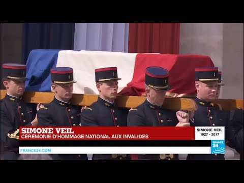 REPLAY - Hommage national à Simone Veil (1927-2017) aux Invalides